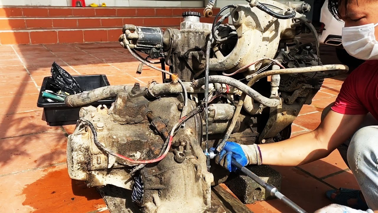 Restoration of old Daewoo car gearbox | Guide to repair and restore old car gearbox 5-speed
