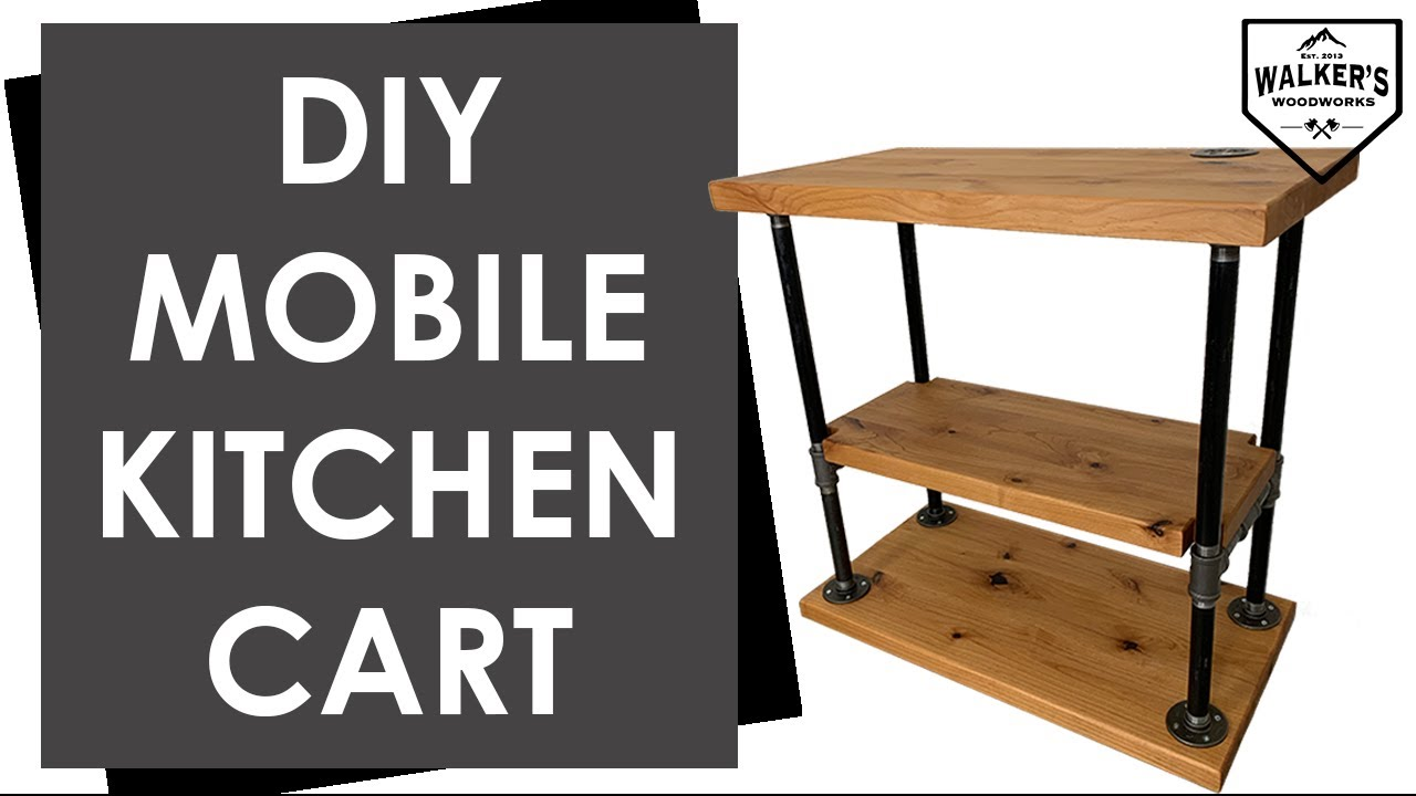 Mobile Kitchen Island Diy Kitchen Cart Youtube