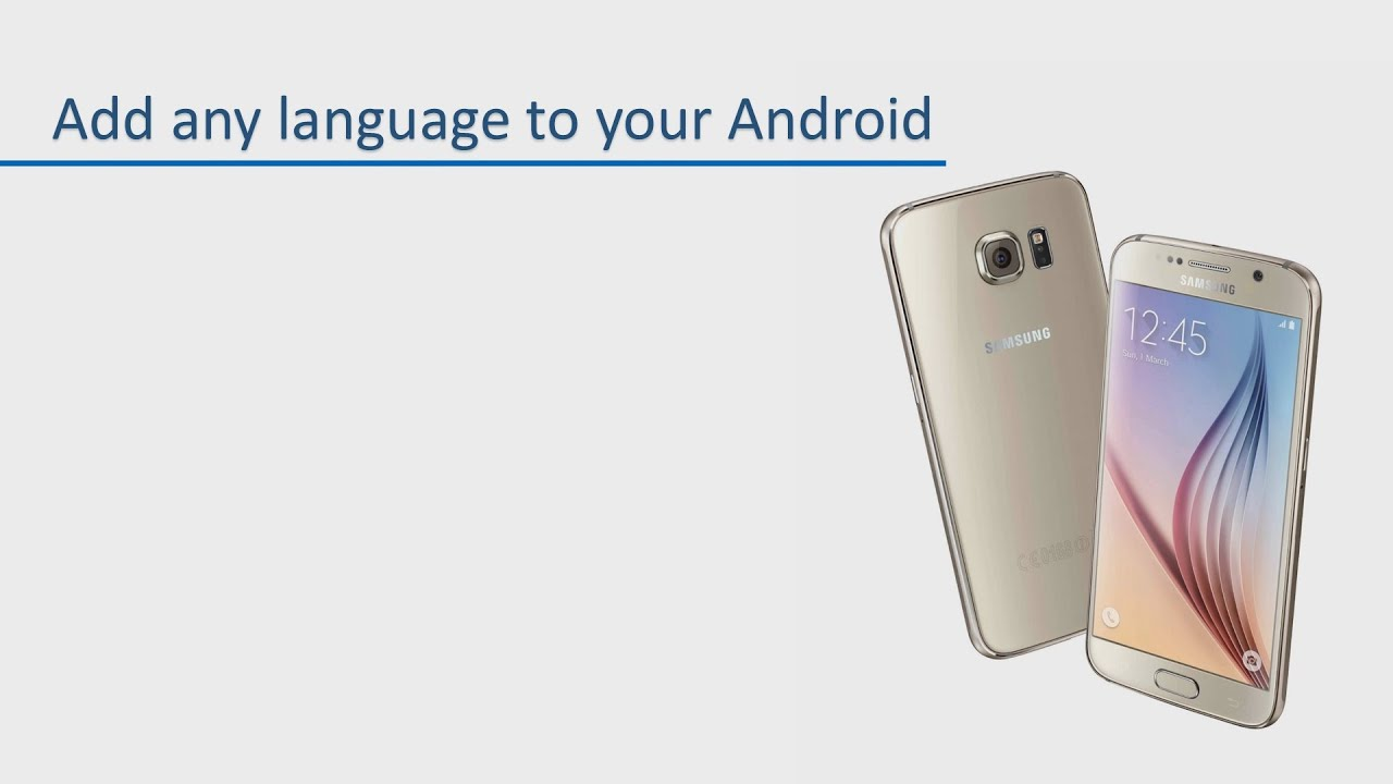 Add any language to your Android