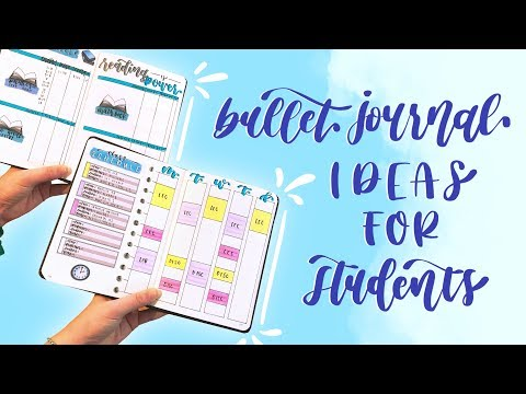 Bullet Journal Ideas for Students || Back to School Bullet Journal Spreads