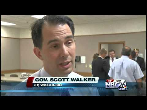Governor Walker Tours Denmark Manufacturer