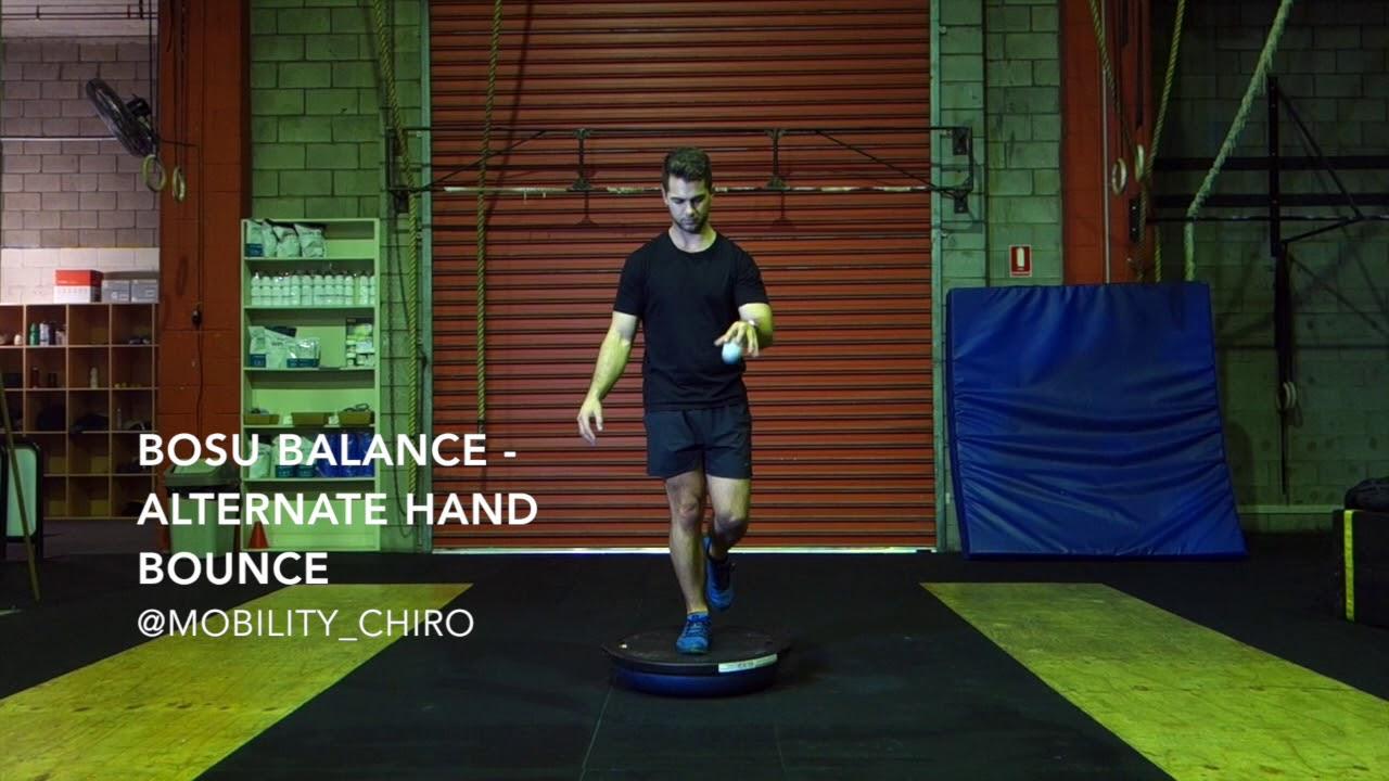 Bosu Balance- Alternate Hand Bounce | Mobility Chiropractic