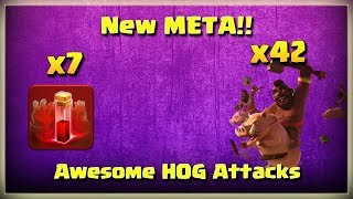 New META!! 42 HOGS + 7 SKELETON Spells | TH11 War Strategy #215 | After MARCH Update | COC 2018 |