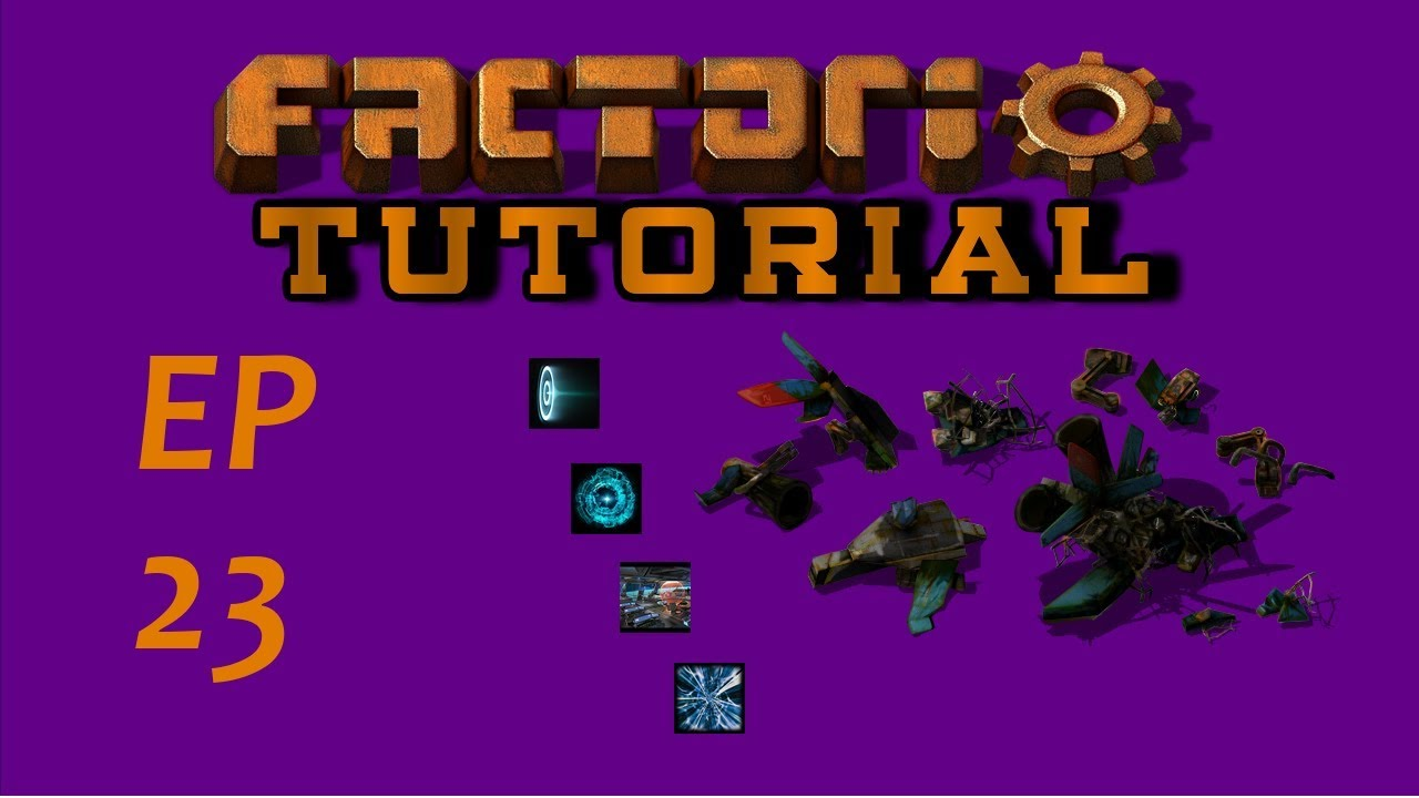 EP23 Deconstucting The Starter Base And Robot Recycling - Factorio  -Tutorial - Let's Play