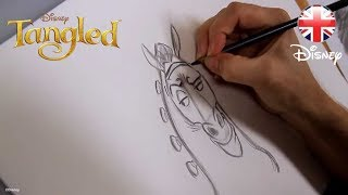 TANGLED |  How to Draw Maximus | Official Disney UK
