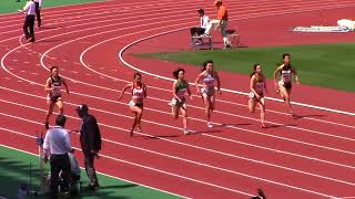 2018東海学生陸上女子100m予選 水野瑛 検索動画 27