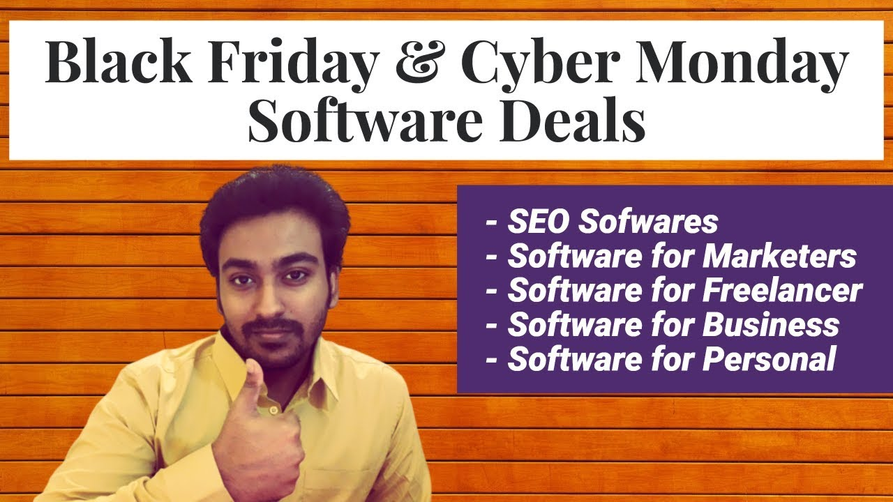 Black Friday Cyber Monday Software Deals 2019 Live Youtube