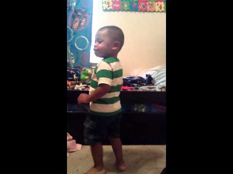 Silly baby Diggy singing 'Fire Truck' by Ivan Ulz