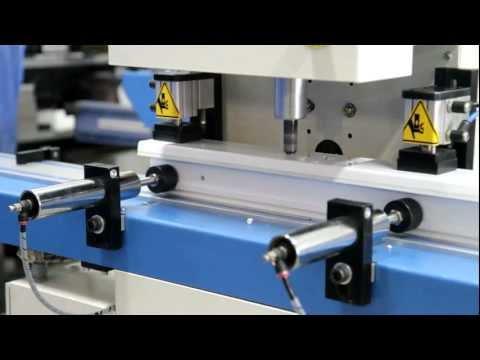 Dg 602 Cnc Door Processing Center For Pvc Profile Doors Youtube
