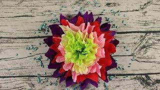Как сделать цветы из гофрированной бумаги. Пион для декора