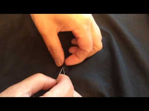 How to repair a seam by hand. Blind Stitch - sewing lesson with Tia