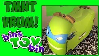 Tmnt Leonardo Vrum Ride-on Ninja Turtles Toy Box! Review By Bin's Toy Bin