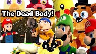 SML Movie: The Dead Body! Mario And Luigi Reaction (GFreddy,Foxy,Freddy,Chica,Pikachu,BowserJr)