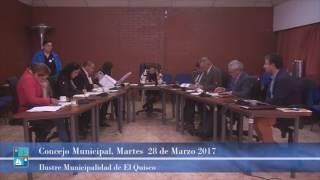 Concejo Municipal Martes 28 de Marzo 2017