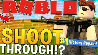 SHOOT THROUGH WALL GLITCH IN FORTNITE? - ROBLOX FORTNITE BATTLE ROYALE (ISLAND ROYALE) #15