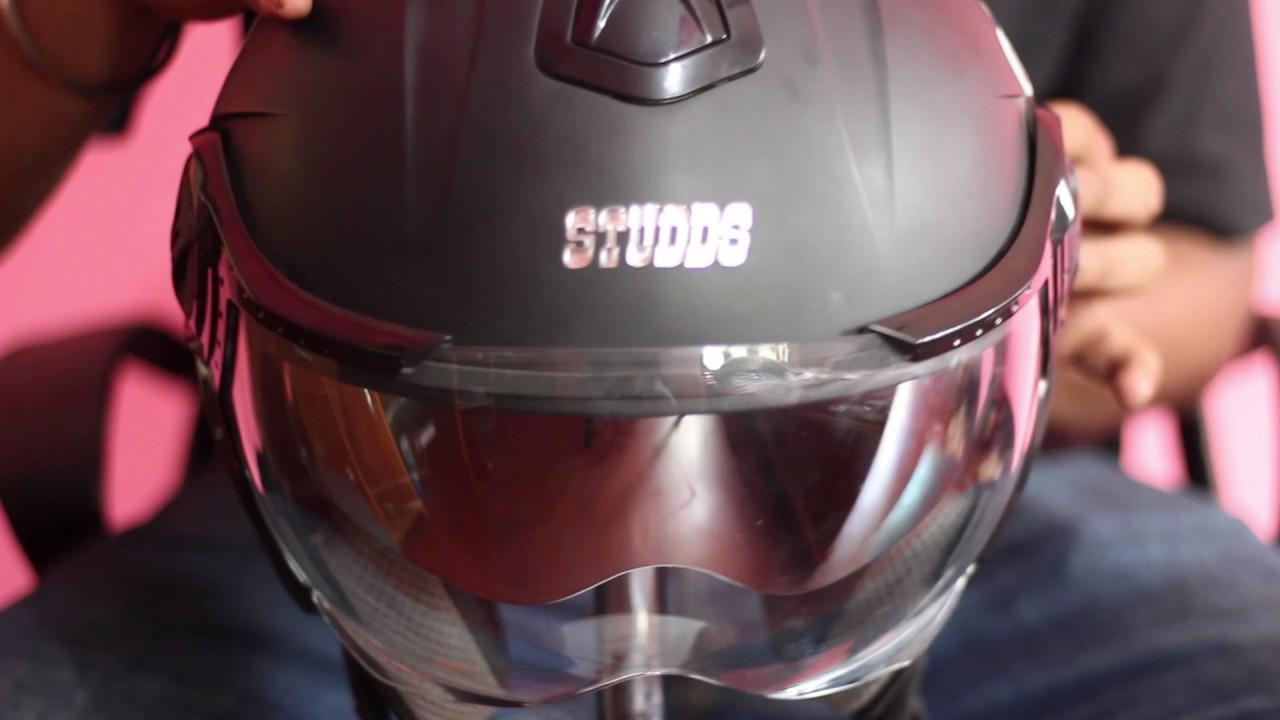 Studds Shifter Helmet Review Youtube: STUDDS DOWNTOWN HELMET REVIEW