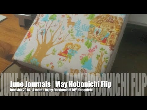Art Journal Flip | Hobonichi Style 'Fauxbonichi' May 2014