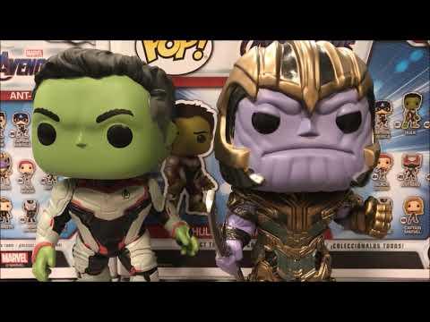 Marvel Endgame Hulk VS Thanos Funko Pop Barnes & Nobles Exclusive 2 Pack  Detailed Look #Endgame