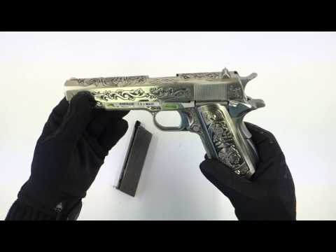 airsoft WE 1911 Silver Classic Floral Pattern GBB 7712 DMdiffusion