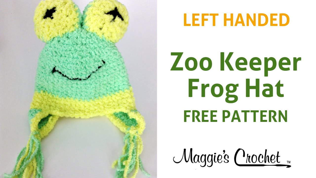 Crochet Patterns For Left Handers : Frog Hat Free Crochet Pattern Left Handed - YouTube