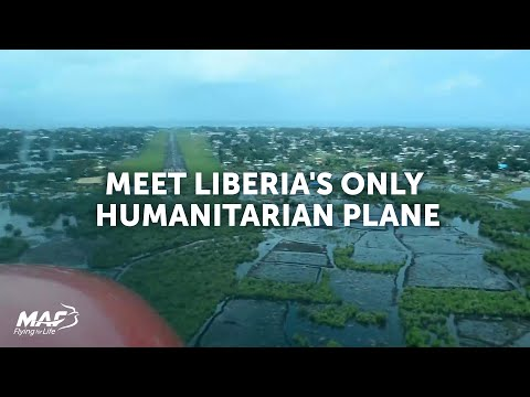 Meet Liberia's only humanitarian plane