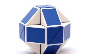 как собрать из змейки рубика шарик?