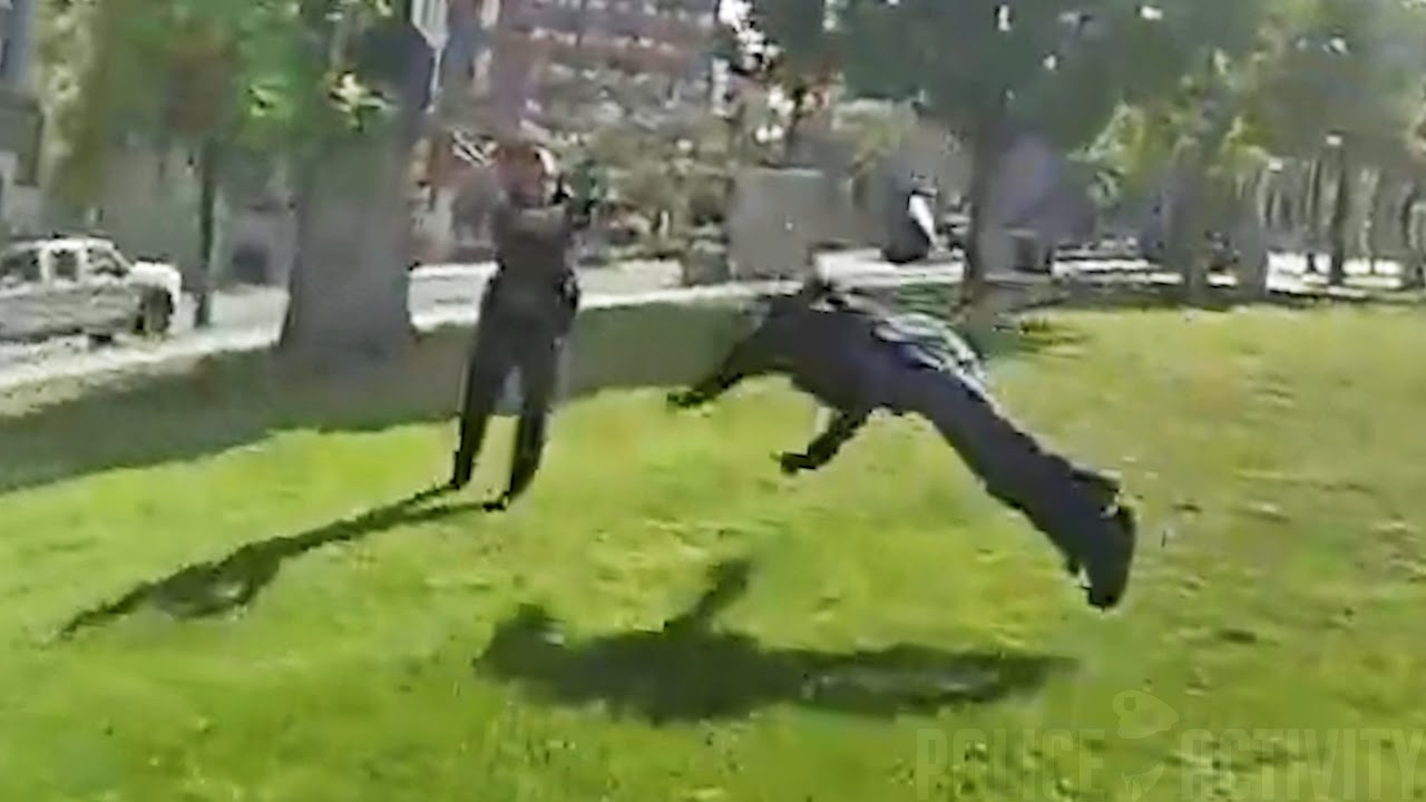 Bodycam Shows Cops Shooting Suspect After He Runs Toward an Officer With a Knife in His Hand