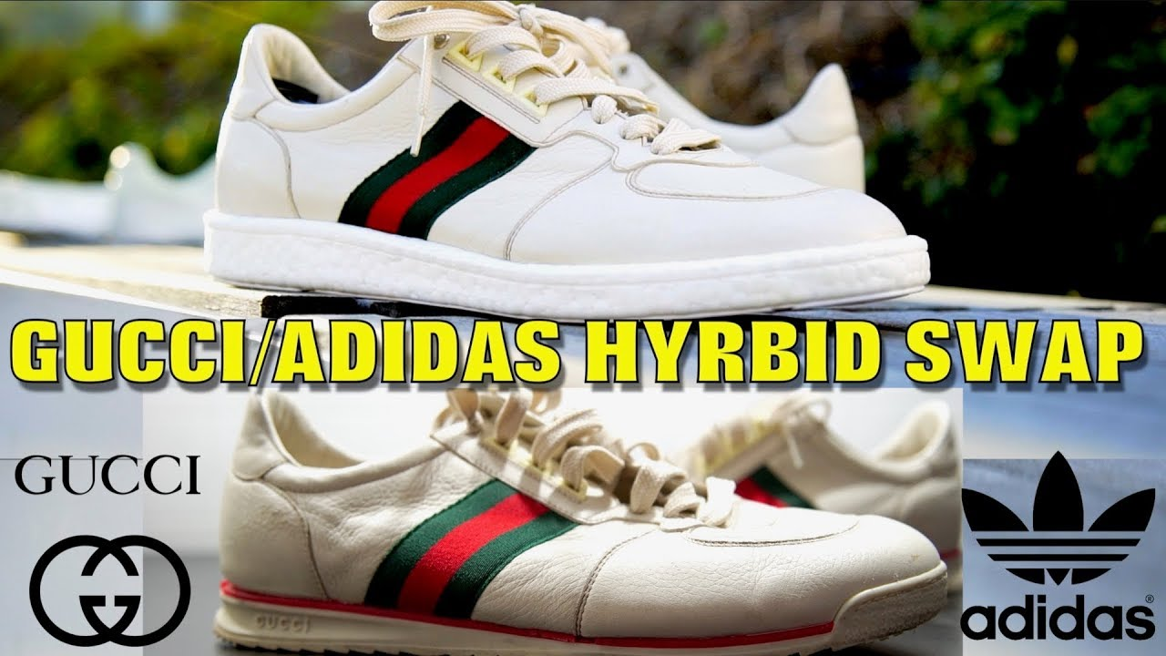 GUCCI ADIDAS BOOST HYBRID SWAP!! (MUST WATCH) - YouTube 4fbf8fcd8