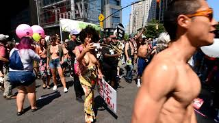 GO TOPLESS DAY  PARADE  NYC 2018