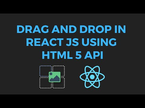Simple drag and drop in react using HTML5 drag and drop - YouTube