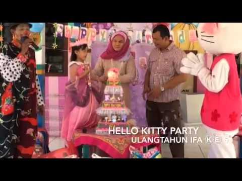 Hello kitty party (ultah ifa ke 5)