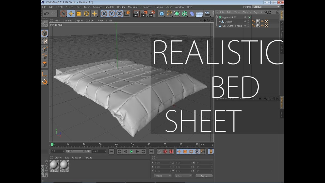 Marvelous Designer 3 Tutorial How To Make A Realistic Bed Sheet