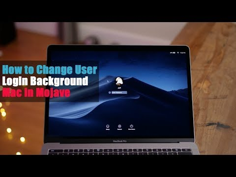 How to change lock screen background on mac