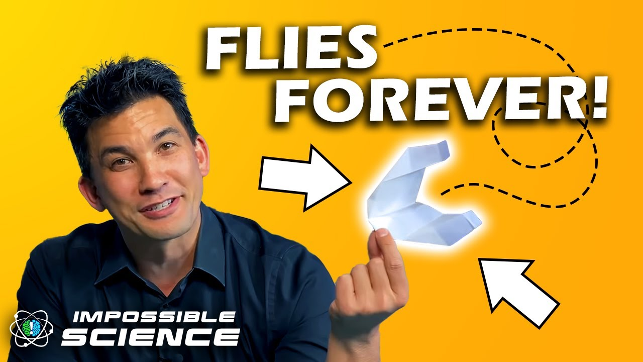 A Paper Airplane That Flies Forever!? | Impossible Science on Location
