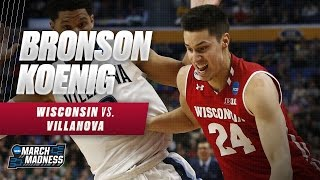 Wisconsin's Koenig adds 17, lifts Badgers to Sweet 16