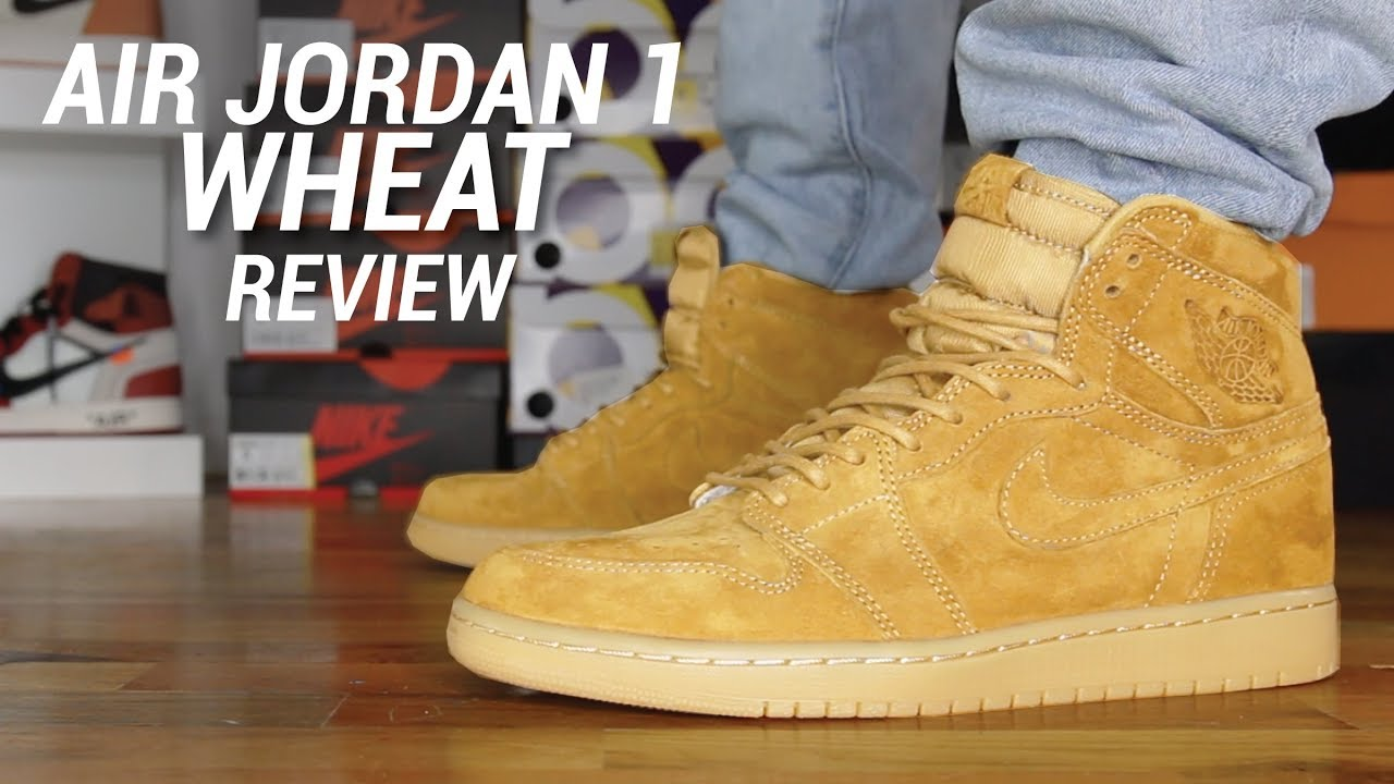 AIR JORDAN 1 WHEAT REVIEW - YouTube e343d88a7