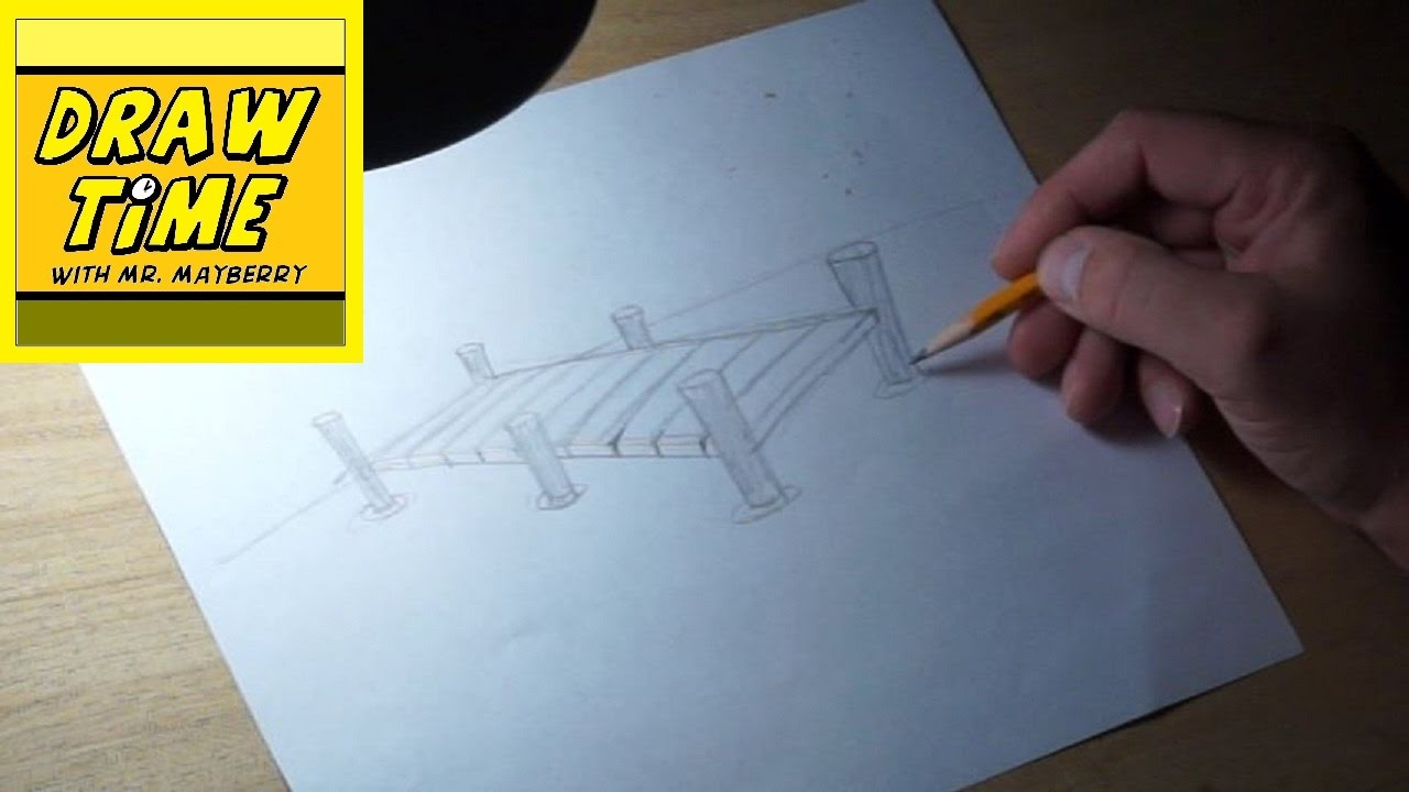 How to draw a boat dock youtube for How to ship fish