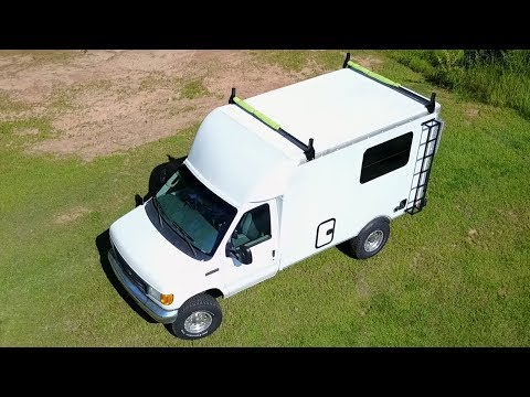 Tour My 17ft Ford E350 Box Truck Campervan - progress so far