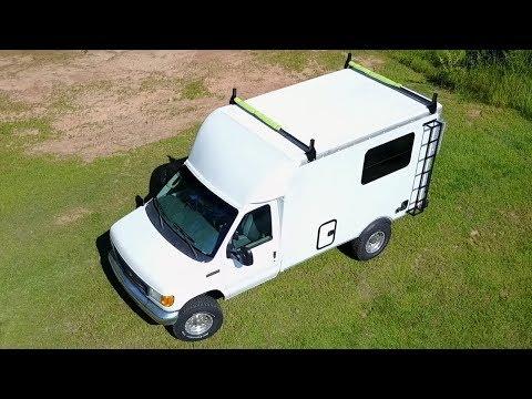 Tour My 17ft Ford E350 Box Truck Campervan - progress so far