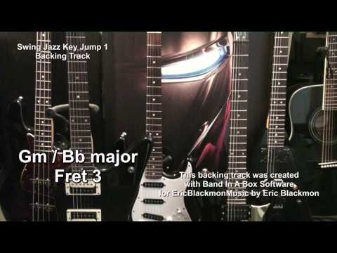 Swing Jazz Key Jump 1 Backing Track With YouTube Guitar Solo Lesson Link EricBlackmonMusicHd