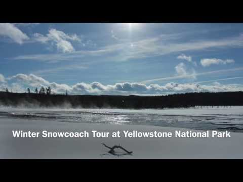 Winter Snowcoach tour at Yellowstone National Park