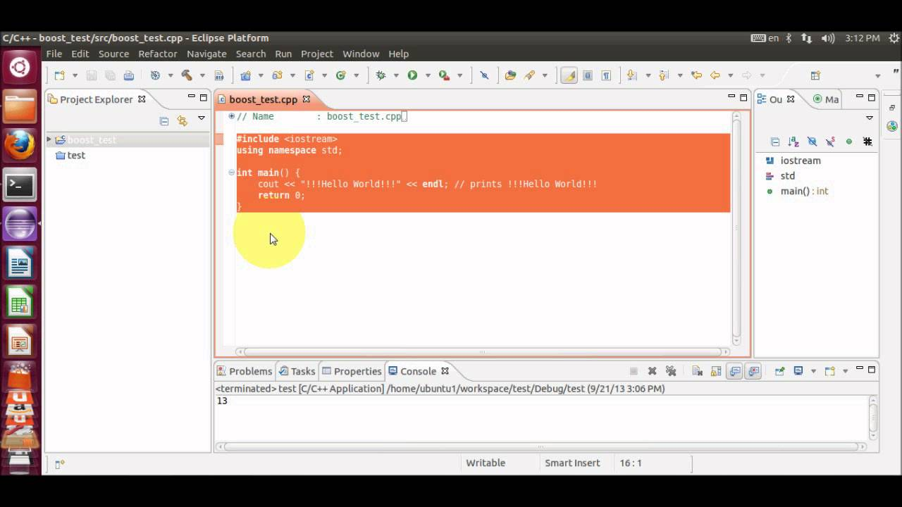 How to Install, Build and Use the Boost C++ libraries in eclipse IDE on  ubuntu