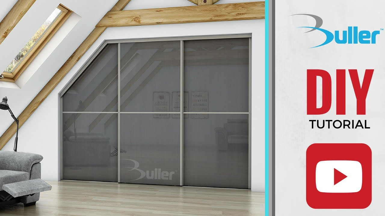 How To Fit A Sliding Door Wardrobe Door With A Sloping Using Placard