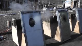 Brandversuch Dämmstoffe Zellulose, Styropor, Mineralwolle, Fagus Naturbaustoffe