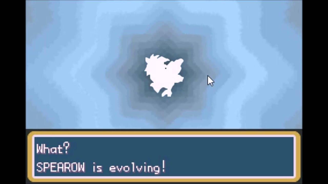 Pokémon Fire Red Gba Spearow Evolves Into Fearow