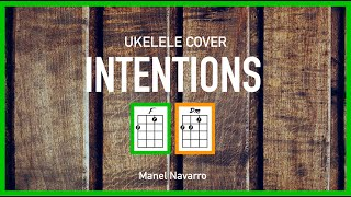 🔥Intentions (Justin Bieber) - Ukulele Cover Manel Navarro