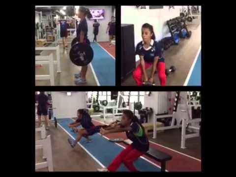 Hong Kong Cricket Women's Team in gym