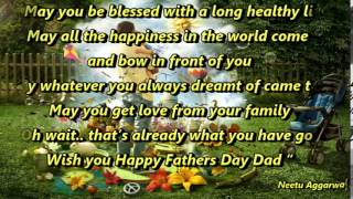 Blessings for father e-card Happy Father's Day