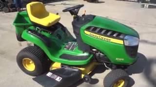 john deere d105 42 riding mower 17 5 hp w 7p utility dump cart