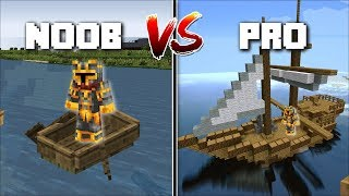 Minecraft NOOB VS PRO BOAT MOD / FIND OUT WHICH PERSON HAS THE BEST BOAT !! Minecraft Mods